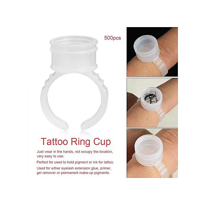 Buy Generic Disposable Eyebrow Tattoo Ink Rings Pigments Holder ...