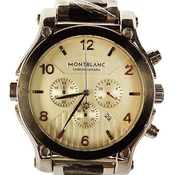 1039d280f5a Buy Generic Montblanc Chronograph Designer Men's Watch - Black,White ...
