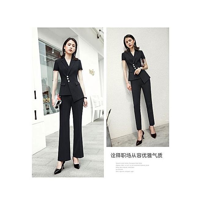 a9b5df597231f Excellent Suit Jacket Female Blazers Feminino 2019 Ladies Blazers Double  Breasted Black Women Blazer Shor TSleeve