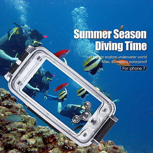 new product 91e81 5b5a7 Mobile Phone Smartphone Waterproof Diving Housing Protective Case Cover  Underwater 40M/ 130ft for iPhone 7