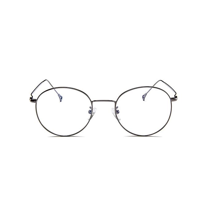 Korean Eyeglasses Frame Men And Women Retro Flat Glasses Metal Trendy