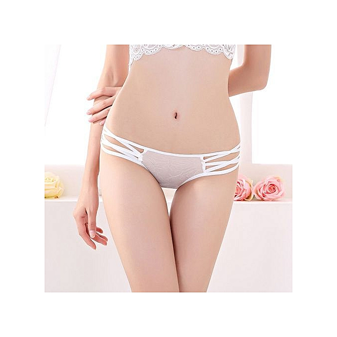 2e4dc3b84d4b Refined Sexy Cute Ladies Panties With Briefs Low Waist Women's Underwear  Perspective Pants-white