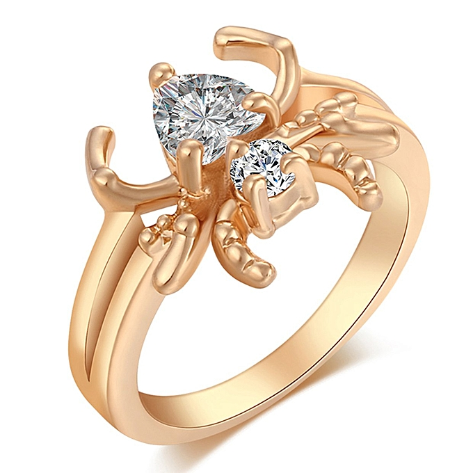 3a33b461e Buy FASHION Special Spider Female Clear Zircon Brand Ring Engagement ...