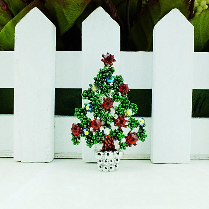 Generic Fashion Chain Jewelry Christmas Tree Rhinestone Brooch