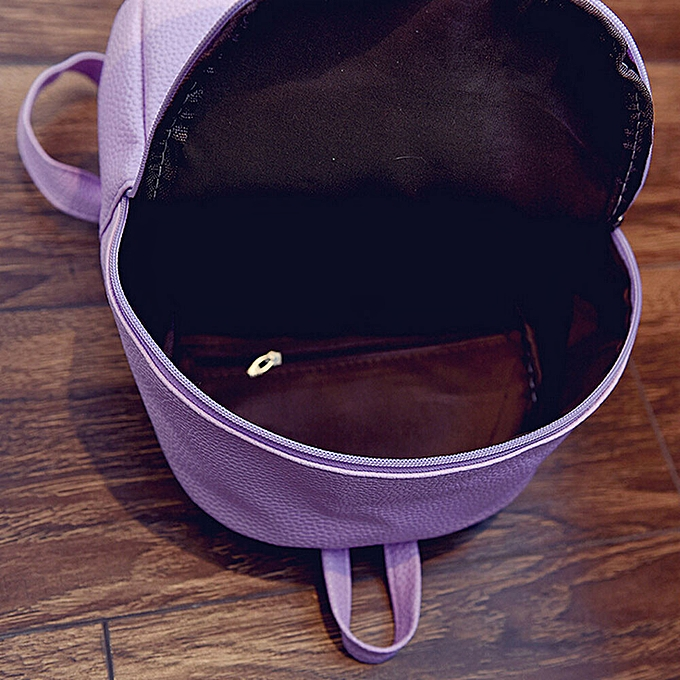 50561ca02bc Girls Leather School Bag Travel Backpack Satchel Women Shoulder Rucksack PP
