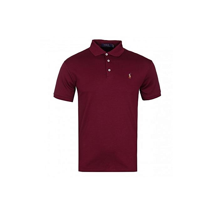 5ddf7d58 Buy Polo Ralph Lauren Men's Polo T-Shirt - Maroon online | Jumia Uganda
