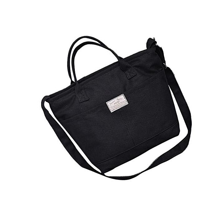 416e18922 ... Haimok Fashion Women Casual Simple Canvas Handbag Cross Body Shoulder  Messenger Bag BK