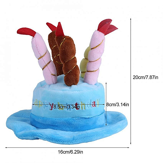 Candles Design Pet Costume Birthday Hats Accessory For Dogs Small Animals