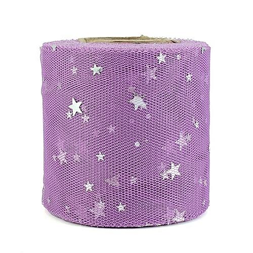 25yardslot 6cm Star Confetti Glitter Tulle Mesh Roll Spool Tutu Pom Soft Squine Tulle Diy Wedding Birthday Decoration