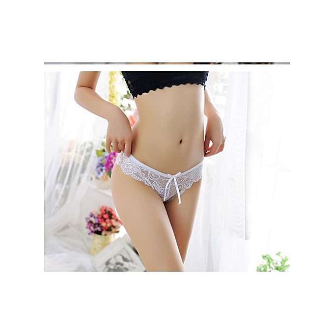 ae053a408148 Refined Sexy Ladies Underwear Lace Low Waist Transparent Seamless Underwear  Women's Hollow Lace Panty Thong-