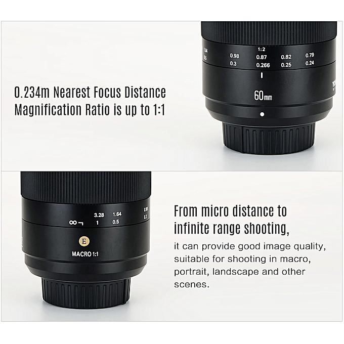 YONGNUO YN60mm F2NE MF Macro Lens Manual Focus F2 Large Aperture for Nikon  D500/D750/D600/D700/D800/D810/D300/D300S/D7000/D3000/D3100/D3200/D5000/D510