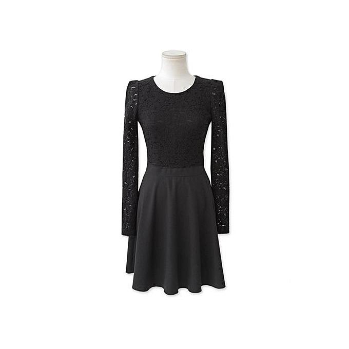 8b13c4345c Buy FASHION Ladies Long Sleeve High Waist Slim Large Size Swim Dress ...