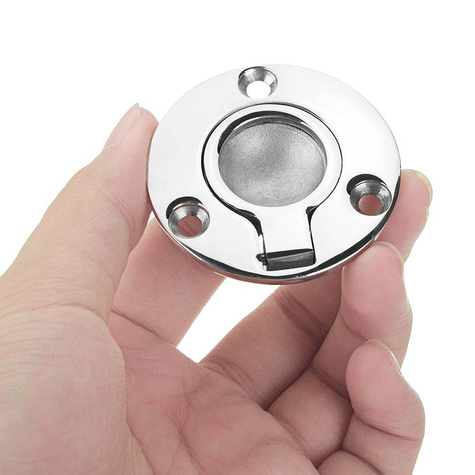 50x41mm Stainless Steel Circle Recessed Flush Ring Pull Handle Hatch Locker  Boat Hatch Handle