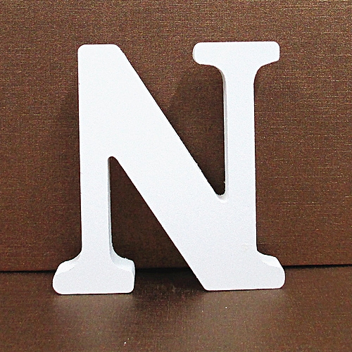Hiamok Wood Wooden Letters White Alphabet Wedding Birthday Party Home Decorations N