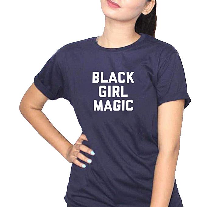9a2eeb654 Buy Generic Black Girl Magic Women's T-Shirt - Navy Blue online ...