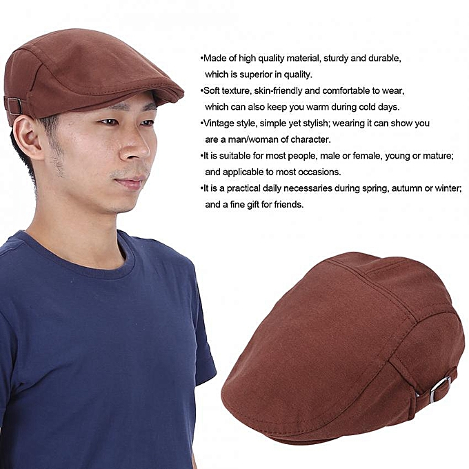 a89af985 Vintage Style Unisex Cotton Duckbill Hat Newsboy Cabbie Ivy Fashion Cap  (Coffee)