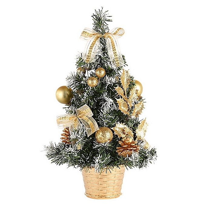 Artificial Tabletop Mini Christmas Tree Decorations Festival Miniature Tree 40cm