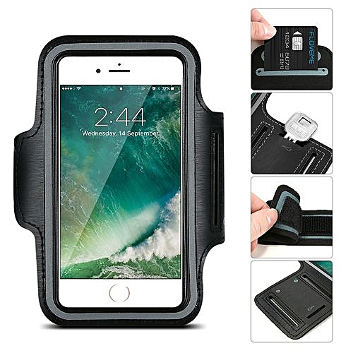 save off 4431c 1a51f Iphone 5 5S 5C Water Resistant Cell Phone Armband Outdoor Running CellPhone  Sweatproof Case With Key Holder And Card Pouch(NavyBlue)