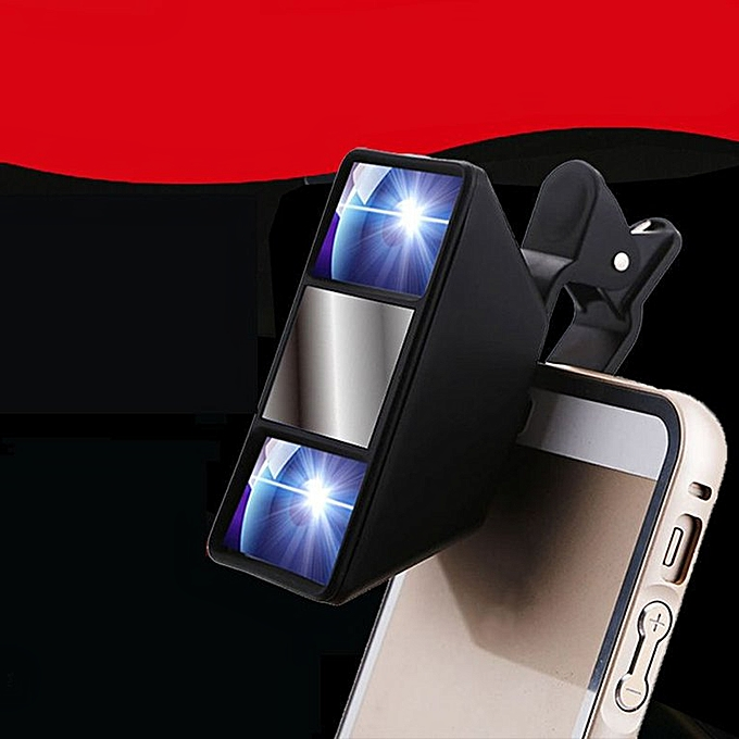 Mobile Special Effects Mini 3D Lens Self-Timer Vr Camera 3D Video Camera  Black