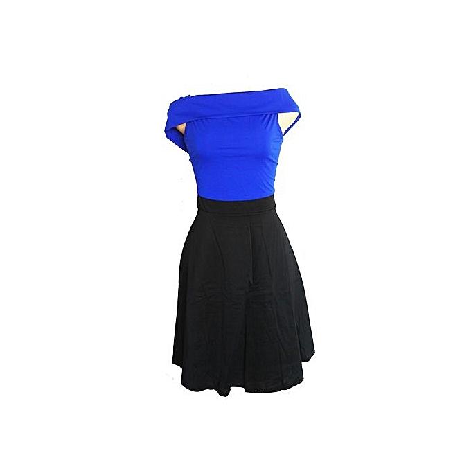008a23ed8872 Women s Off Shoulder Swing Dress- Black