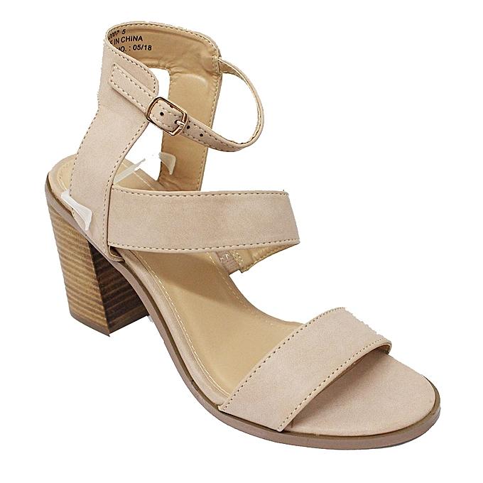 f5da3896a6d Bata Bata 761-2007 Ankle Strap Block Heel Shoes - Nude