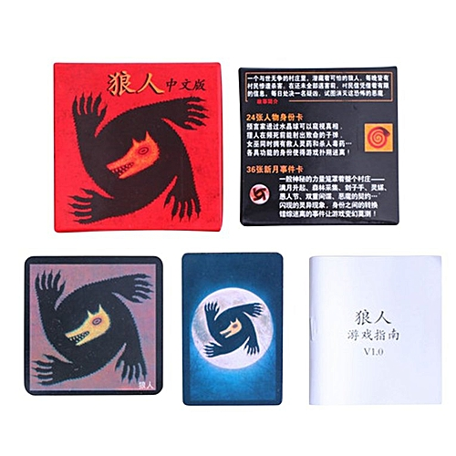 Chinese Version Werewolf Games Card For Party Family Board Game Playing  Cards multicolor