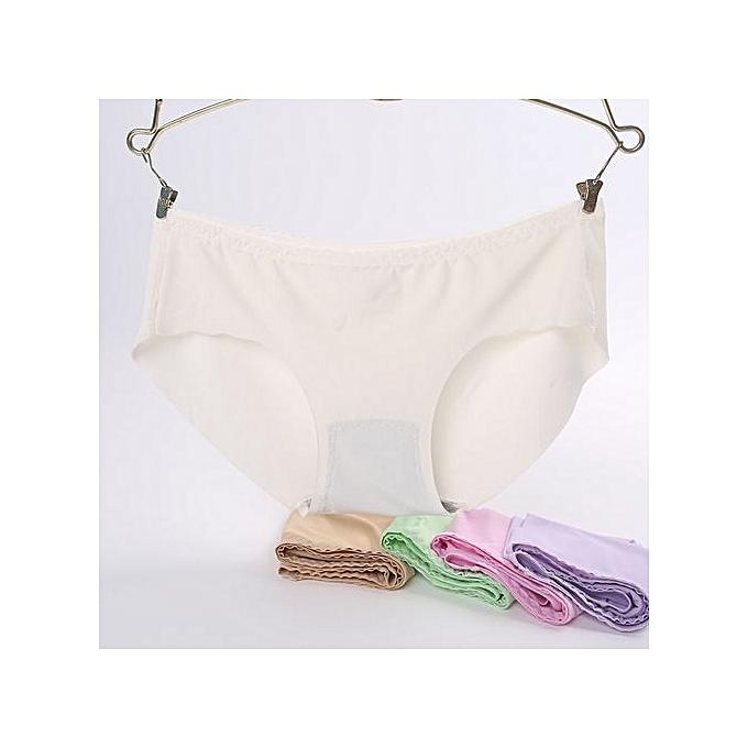 fa3c81f1cdca Cotton bottom ice silk underwear ladies no trace solid color underwear  women low waist underwear-