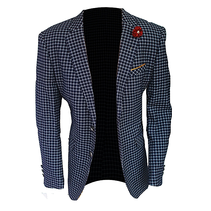 Blazers Jumia: White Label Double Button Checkered Blazer