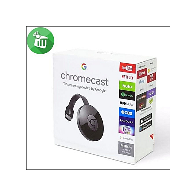 Google Chromecast 4K TV Streaming Dongle, HDMI Streaming Media Player,  Phone to TV Projection - Black