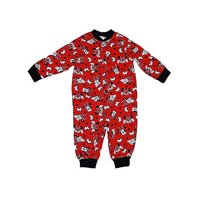 23e139492c9d Generic Girls Minnie Mouse Sleep Suit pajamas - Red