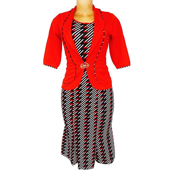 Women S 2 Piece Dress Suit Red Jumia Uganda