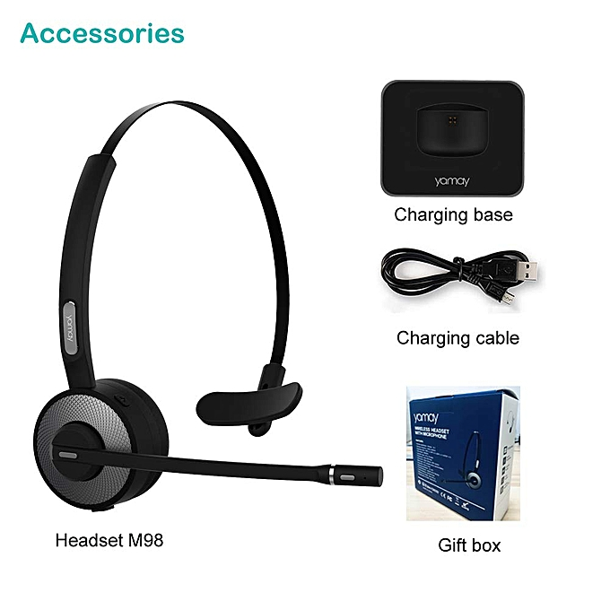 6f20c8a1e5b ... YAMAY Bluetooth Headset for Cell Phones, Wireless Headset Noise  Cancelling Bluetooth Headphones with Microphone,