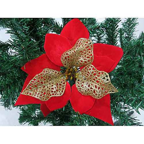 Buy Generic Christmas Flowers Xmas Tree Decorations Glitter Hollow Wedding Party Home Decor online | Jumia Uganda
