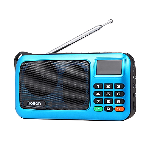 Rolton W405 FM Digital Radio Portable USB Wired Computer Speaker HiFi  Stereo Receiver w/ Flashlight LED Display Support TF Music Play