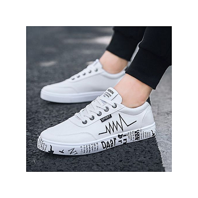8b01210a003 New 2018 Spring Summer Canvas Shoes Men Sneakers Low Top Shoes Men's Casual  Shoes-white