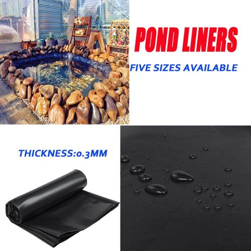 Fish Pond Liner Gardens Pools HDPE Membrane Reinforced Landscaping [4 5X3M]