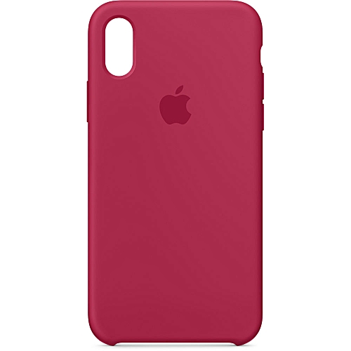 new arrival 7f3d0 06ba6 Silicone Case For Apple iPhone X - Rose Red