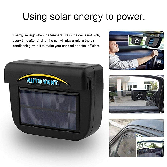 buy generic solar power car window cooling fan black best price online jumia uganda. Black Bedroom Furniture Sets. Home Design Ideas