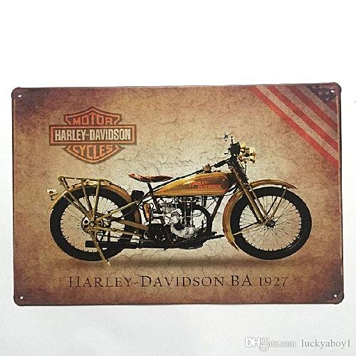 Buy Generic Harley Davidson Retro Vintage Metal Tin Sign For Man