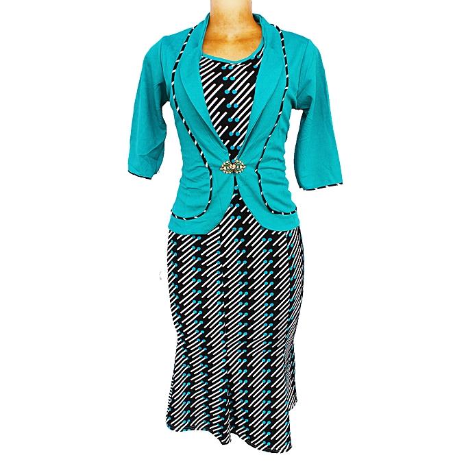 Women S 2 Piece Dress Suit Green Jumia Uganda