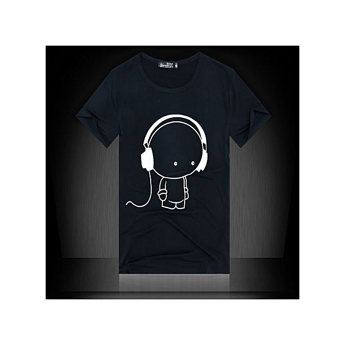 0169d736e13f Buy Generic Stylish Headphones Printed Black And White Student Class ...