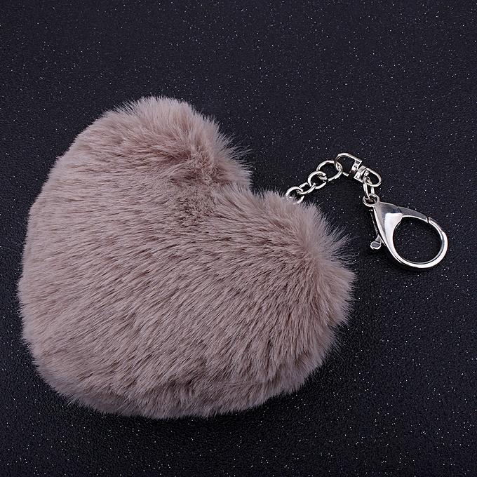 Buy Fashion Hiamok Plush Heart Shape Ball Cute Charm Car Keychain