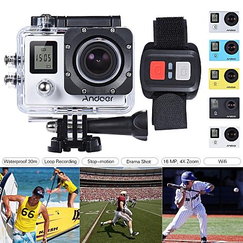 Andoer 4K 30fps/1080P 60fps Full HD 16MP Action Camera Waterproof 30m WiFi  2 0