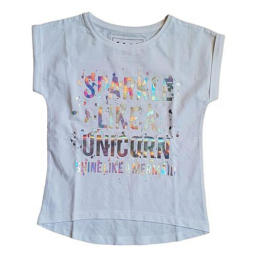 ed4138843b5a Buy Generic Girls TU Sparkle Like A Unicorn slogan T-shirt online | Jumia  Uganda