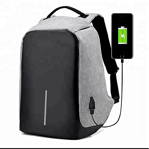 544b3d5c673f Anti-theft Laptop Bag with USB Charger, Waterproof Large Capacity Bags -  Grey, Black