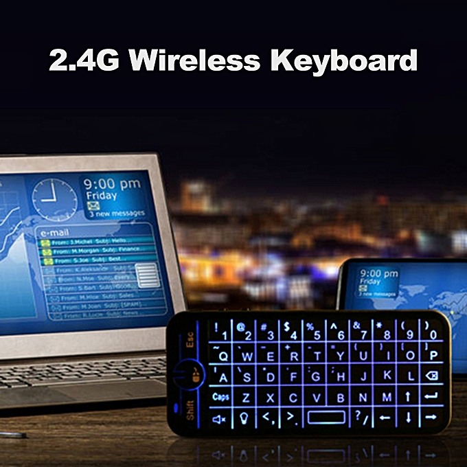 d732b0239f3 iPazzPort 2.4G Wireless Keyboard Full Screen Touchpad Mouse Combo with  Backlit for