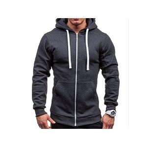 Rrive Men Classic Bomber Drawstring Zip-Up Hooded Sweatshirt Jacket