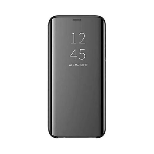 Samsung Galaxy M31 Plating Mirror Leather Case - Black
