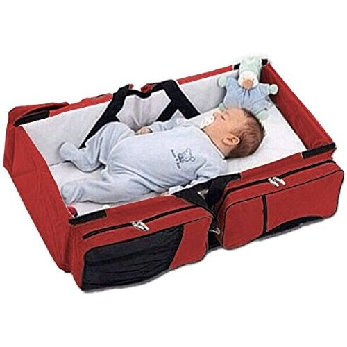 Shop 3 in 1 Baby Travel Bag & Bed - Maroon,White | Jumia ...