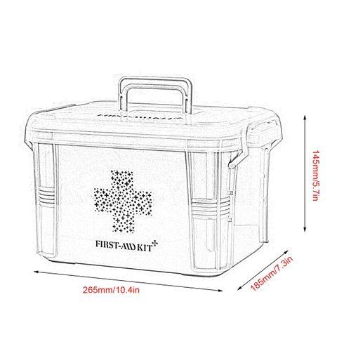 Shop Generic Home Use Medicine Box First Aid Kit Plastic